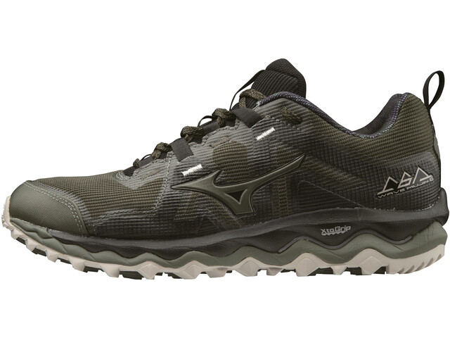 Mizuno Wave Mujin 6 Juoksukengät Miehet, forest night/forest night//silver cloud